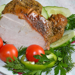 Cold boiled pork from turkey in multicooker