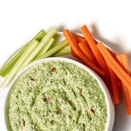 Cold Spinach Dip with Radishes