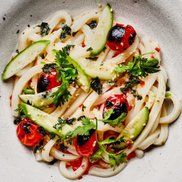 Cold Udon with Grapefruit Ponzu