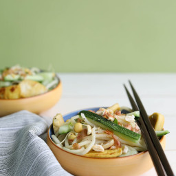 Cold Yakisoba Noodles with Cucumber and Mint