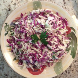 Cole slaw in sesame soy dressing