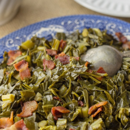 Collard Greens with Red Onions and Bacon