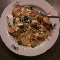 Collin's Sundried Tomato, Shrimp, and Broccoli Pasta
