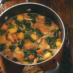 Colorful Chicken 'n' Squash Soup Recipe