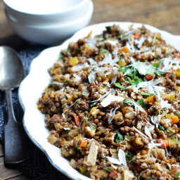 Colorful Lentil Salad with Walnuts and Herbs
