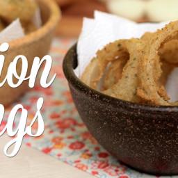 Como fazer Onion Rings