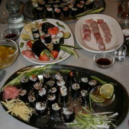 Complete Mediteranian Sushi Meal