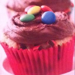 Confetti candy cupcakes