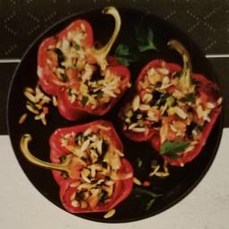 Confetti Orzo (or confetti stuffed peppers with orzo)