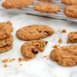 Cookies de avena, chocolate, sésamo y nueces - sin gluten
