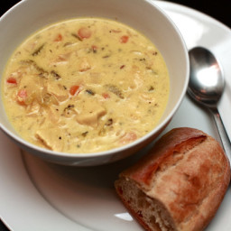 Copy-Cat Panera Cream of Chicken and Wild Rice Soup