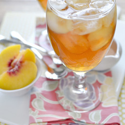 Copycat Caribou Coffee Sparkling Peach Black Tea