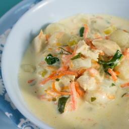 Copycat Olive Garden Chicken and Gnocchi Soup
