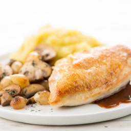 Coq au Vin with Bone-In Chickenwith mashed potatoes
