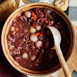 Coq au Vin with Cocoa Powder