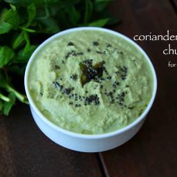 coriander chutney recipe | kothamalli chutney | mint coriander chutney