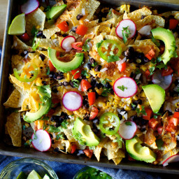 Corn and Black Bean Weeknight Nachos