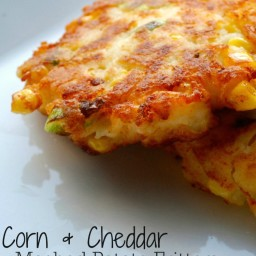 Corn and Cheddar Mashed Potato Fritters