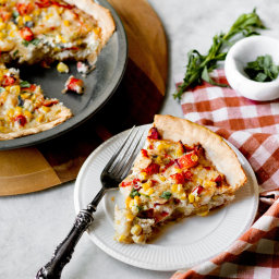 Corn and Lobster Tart
