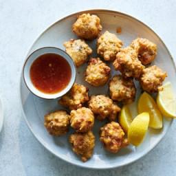 Corn and Shrimp Beignets