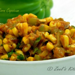 Corn Capsicum Sabji