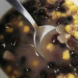 Corn, Cilantro and Black Bean Soup (Mf)