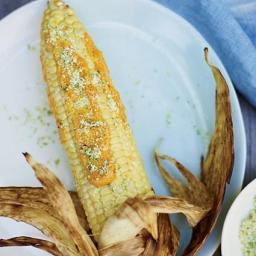 Corn on the Cob with Curry Mayonnaise and Chile Salt