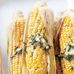 Corn on the Cob with Lime-Chive Butter