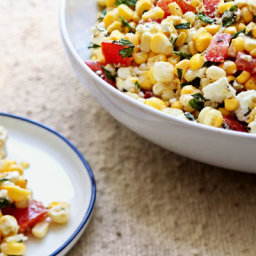Corn Salad With Tomatoes, Feta and Mint