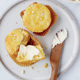 Corn-Studded Corn Muffins with Honey Mascarpone
