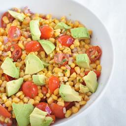 Corn, Tomato and Avocado Salad