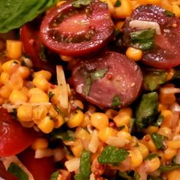 Corn Tomato and Basil Salad
