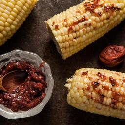 Corn with Umeboshi Paste