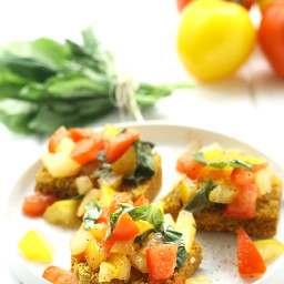 Cornbread Bruschetta {Gluten-Free and Vegan}