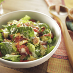 Cornbread Salad with Buttermilk-Chive Dressing and Maple Bacon