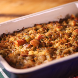 Cornbread Stuffing with Herb Butter