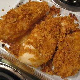 Chicken Baked in Cornflake Crumbs