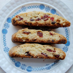 Cornmeal Biscotti with Cranberries and White Chocolate Chunks