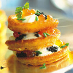 Cornmeal Blini with Caviar