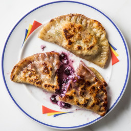 Cottage Cheese and Blueberry Pierogies