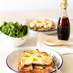 Courgette Quinoa Lasagna with a Cinnamon Yoghurt Béchamel