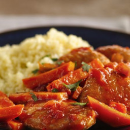 Couscous and Sweet Potatoes with Pork