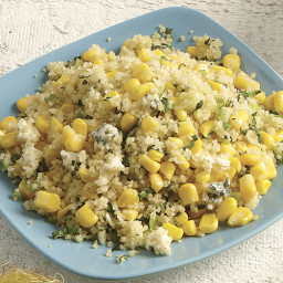 Couscous with Corn and Blue Cheese