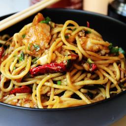CPK's Kung Pao Chicken Spaghetti