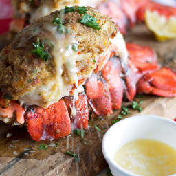 Crab and Bacon Stuffed Maine Lobster Tails
