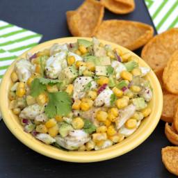 Crab, Avocado & Corn Salad with Cilantro & Lime