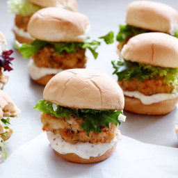 Crab Cake Sliders with Blood Orange Aioli