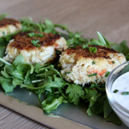 Crab Cakes with Lemon Herb Aioli