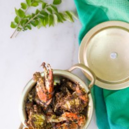 Crab Curry Leaves Pepper Fry