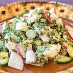 Crab, Radish and Cucumber Salad